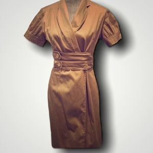 Lovely Brown Wrap Dress Size M